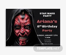 Star Wars Birthday Invitation Template