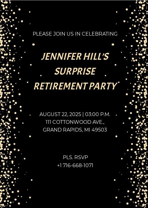 Free Surprise Retirement Party Invitation