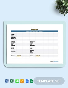 Free Sample IT & Software Time Sheet Template