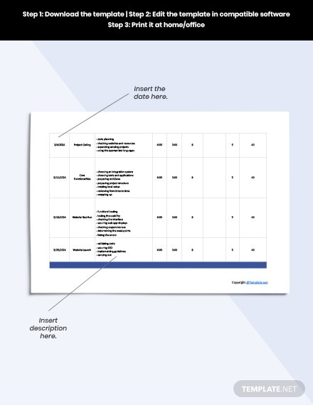 Free Basic Software Time Sheet Template download