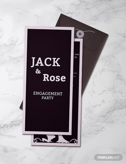 Free Engagement Party Invitation Template