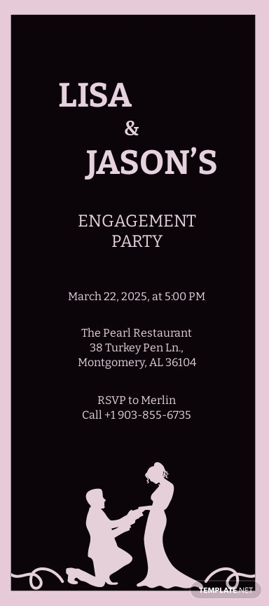 Engagement Party Invitation Template [Free JPG] - Illustrator, Word, Outlook, Apple Pages, PSD, Publisher