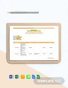 Free Blank Software Schedule Template