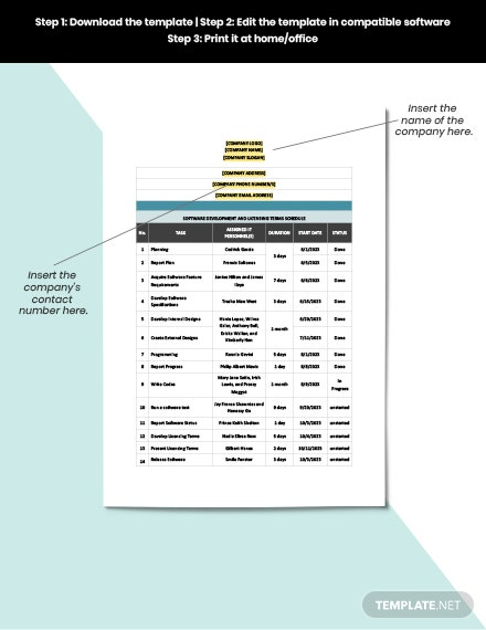 Software Development and Licensing Terms Schedule Template download