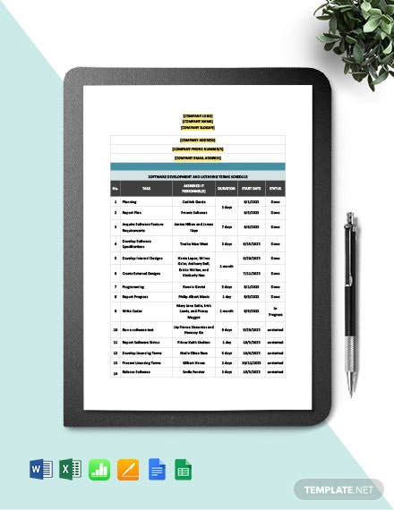 Software Development and Licensing Terms Schedule Template