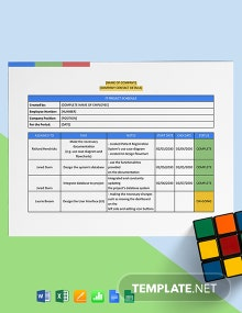 IT Project Schedule Template