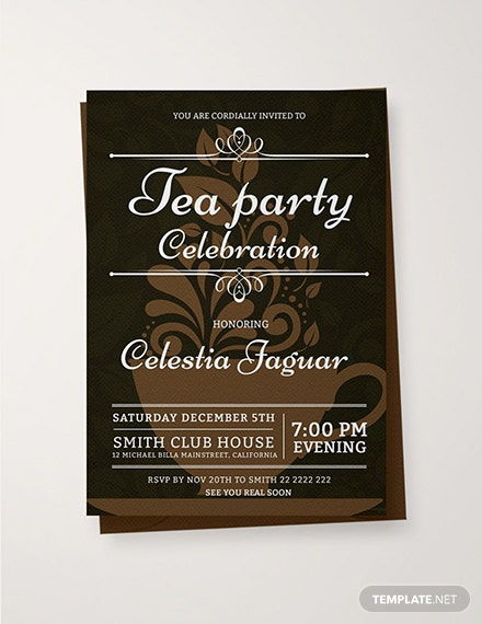 Free Tea Party Invitation Template