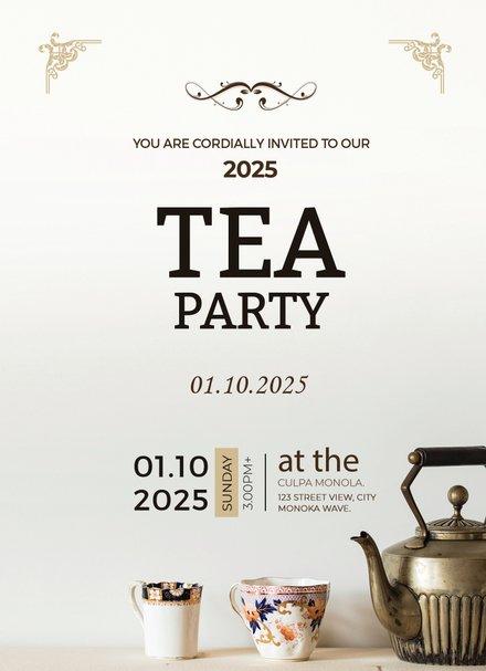 High school graduation invitation template free templates high tea party invitation card template stopboris Choice Image