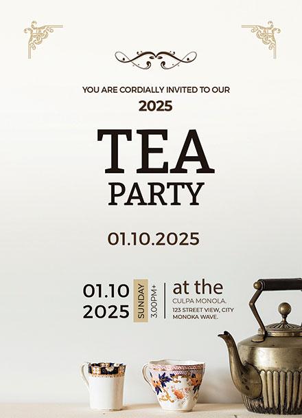 High tea party invitation card template download 344 invitations high tea party invitation card template stopboris Choice Image