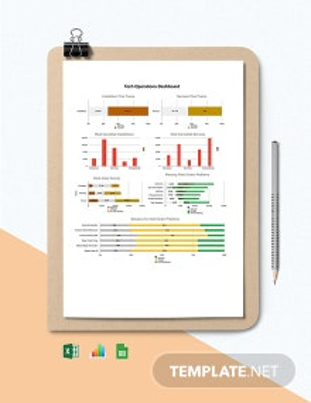 Tech Operations Dashboard Template