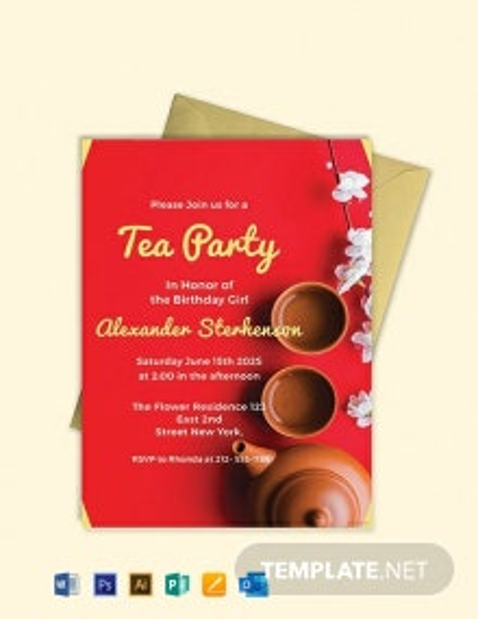 Free Printable Tea Party Invitation Template