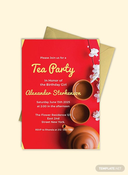 Printable Tea Party Invitation Template