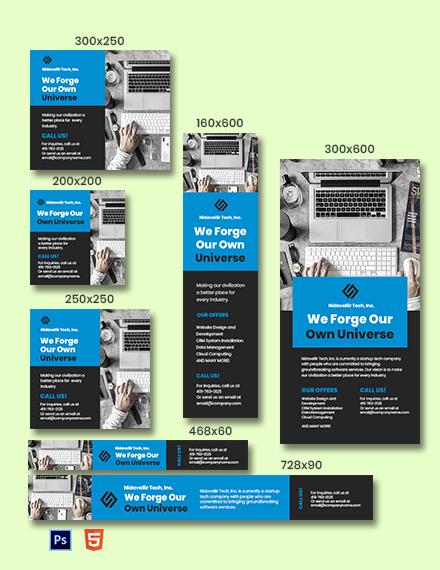 Technology Startup Web Banner Template