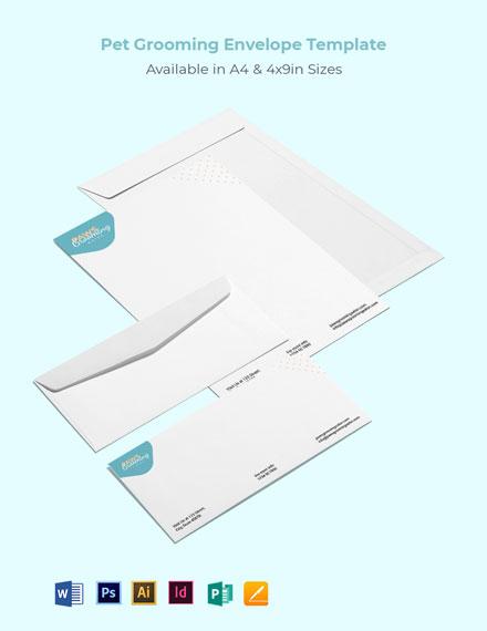 Pet Grooming Envelope Template