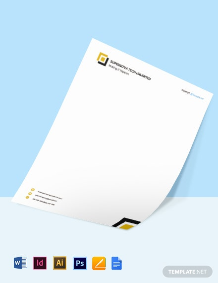 Free Blank IT Letterhead Template