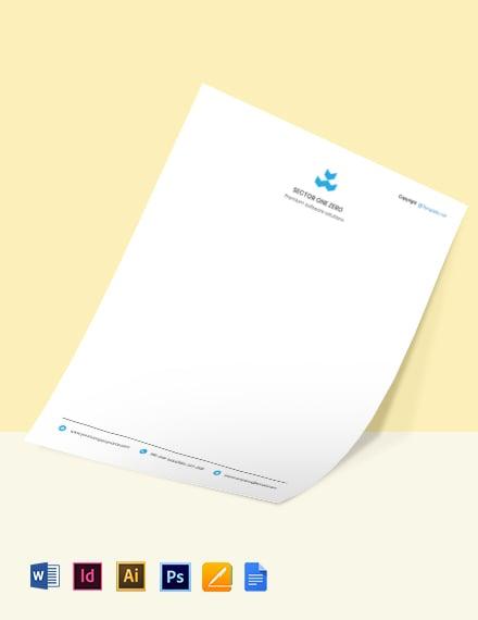 Sample Software Company Letterhead Template