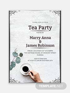 Elegant Tea Party Invitation Template