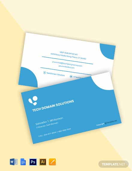 Free Simple IT Support Business Card Template