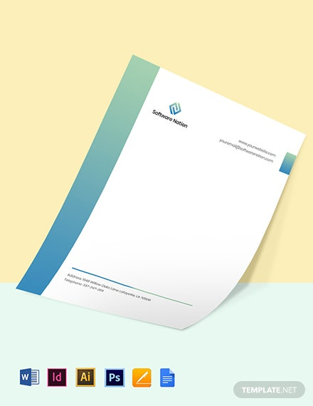 Software Development Letterhead Template