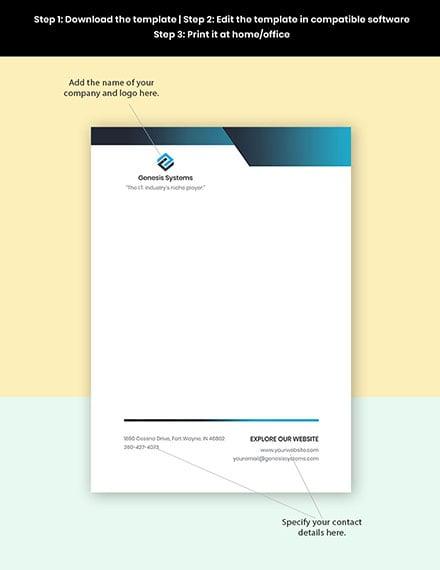 Software Company Letterhead Template Format
