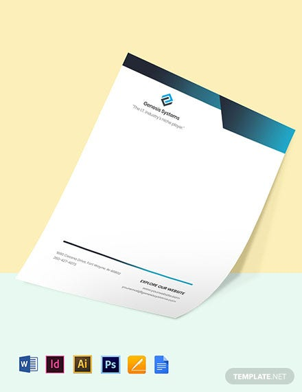 Software Company Letterhead Template