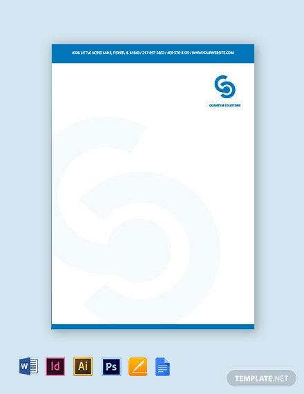 IT Consulting Letterhead Template