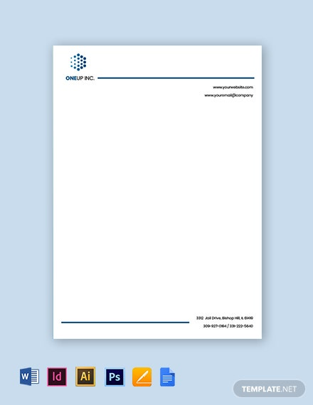 IT Services Letterhead Template