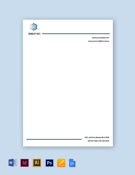 IT Services Letterhead Template