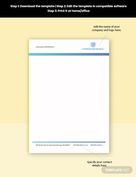 Technology Solutions Letterhead Format