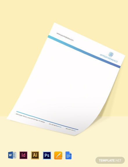 Technology Solutions Letterhead Template