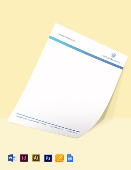 Technology Solutions Letterhead Template