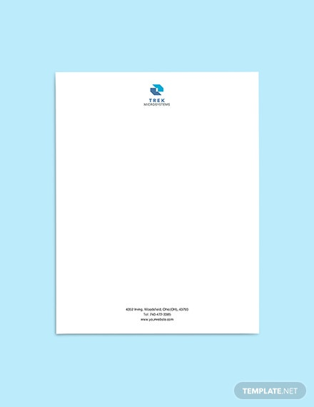 IT Startup Company Letterhead sample