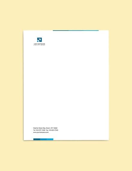 Software Solutions Letterhead sample