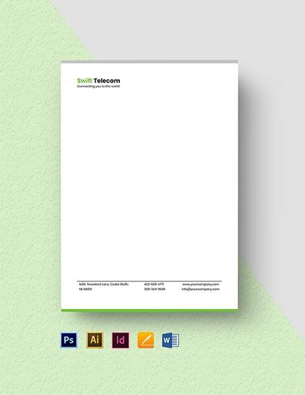 Internet Service Provider Letterhead Template
