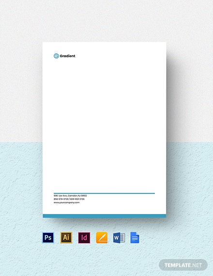 Computer Software Company Letterhead Template