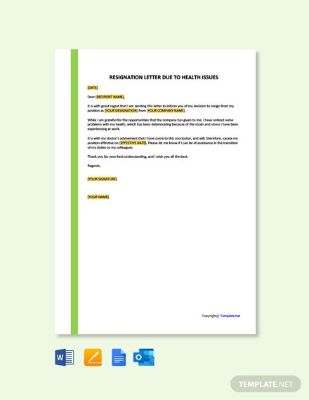 Immediate Resignation Letter Due To Illness from images.template.net