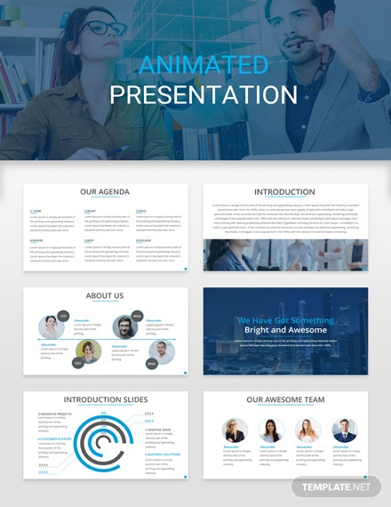 Free Animated Presentation Template