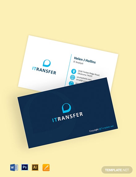 Free IT Professional Business Card Template