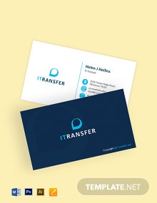 IT Professional Business Card Template