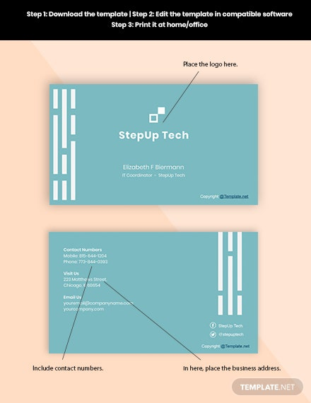 Free Minimal IT Business Card Format