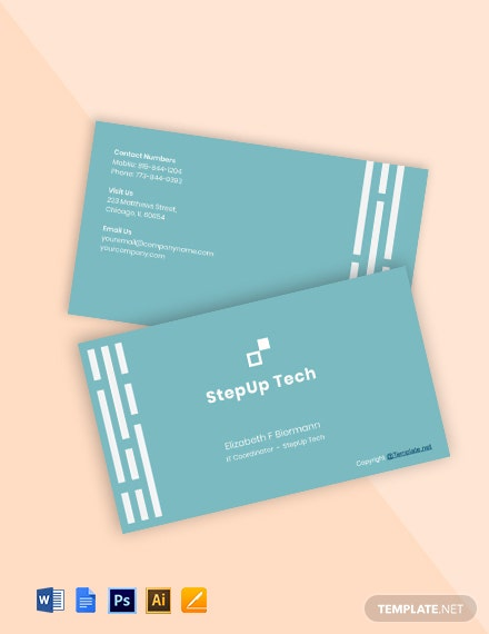 Minimal IT Business Card Template