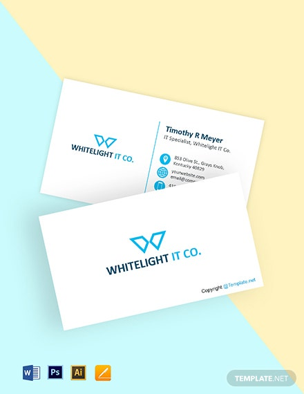 Free Flat IT Business Card Template