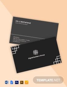 Software Development Business Card Template