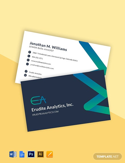 Data Analytics Business Card Template