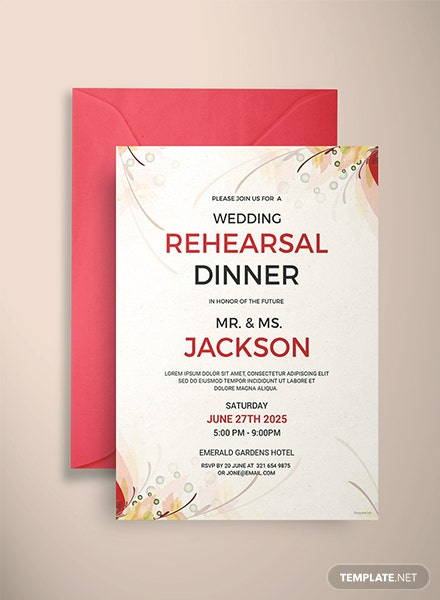 Wedding Rehearsal Party Invitation