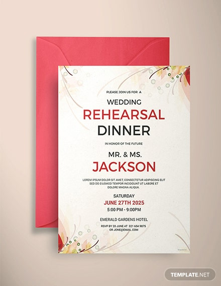 Free Wedding Rehearsal Party Invitation