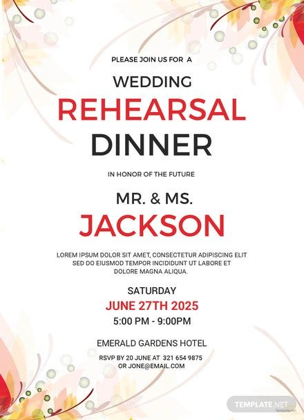 Wedding Rehearsal Party Invitation