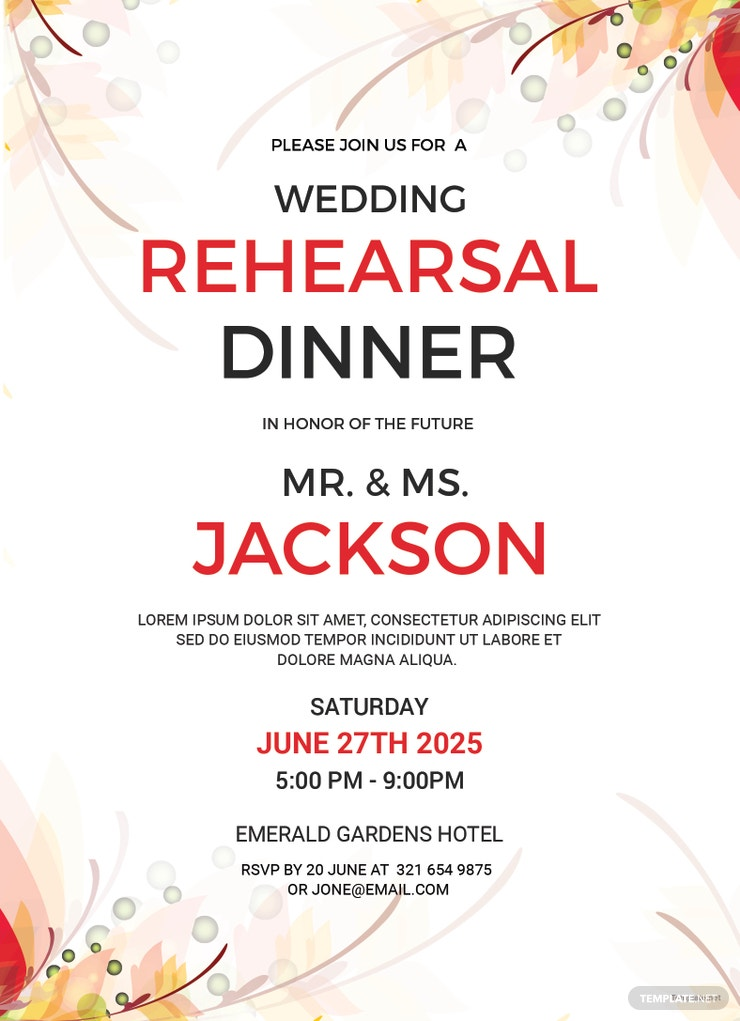 wedding rehearsal party invitation 740x1021