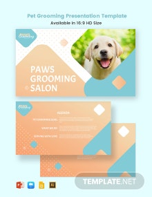 Pet Grooming Presentation Template