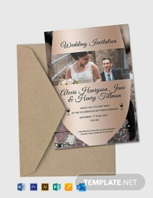 Free Winery Wedding Invitation Card Template